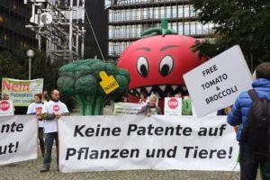 Demo 2015: Keine Patente auf Pflanzen und Tiere, auf Brokkoli und Tomate!