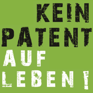 Icon Kein Patent auf Leben